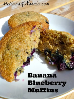 Pioneering Today Banana Blueberry Muffins
