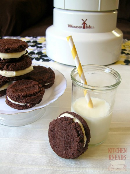 Chocolate Sandwich Cookies with WonderMill