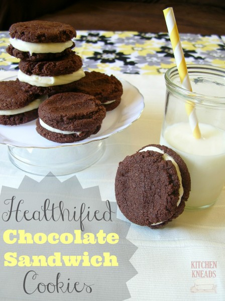 Healthified Chocolate Sandwich Cookies