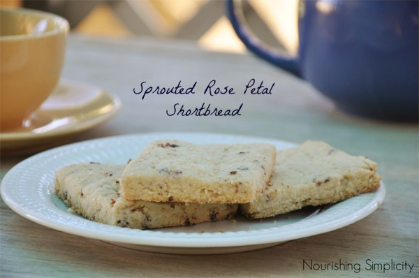 Rose Petal Shortbread (Sprouted)