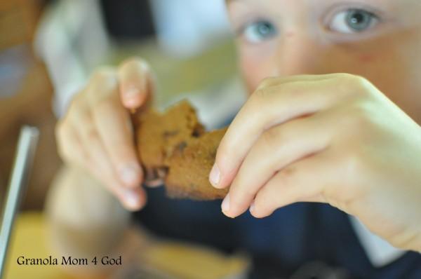 kid eating scones