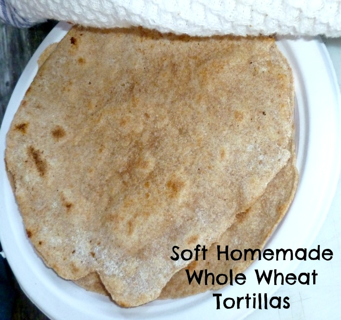 How to Make Soft Homemade Whole Wheat Flour Tortillas