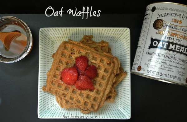 Oat Waffles Recipe - Nosh My Way