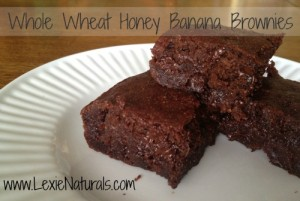 Whole Wheat Honey Banana Brownies