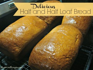 Delicious Half and Half Loaf Bread