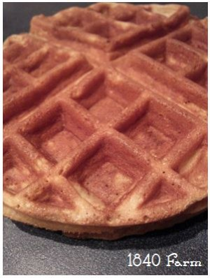 Whole Grain Waffles at 1840 Farm