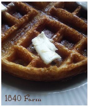 Waffles at 1840 Farm
