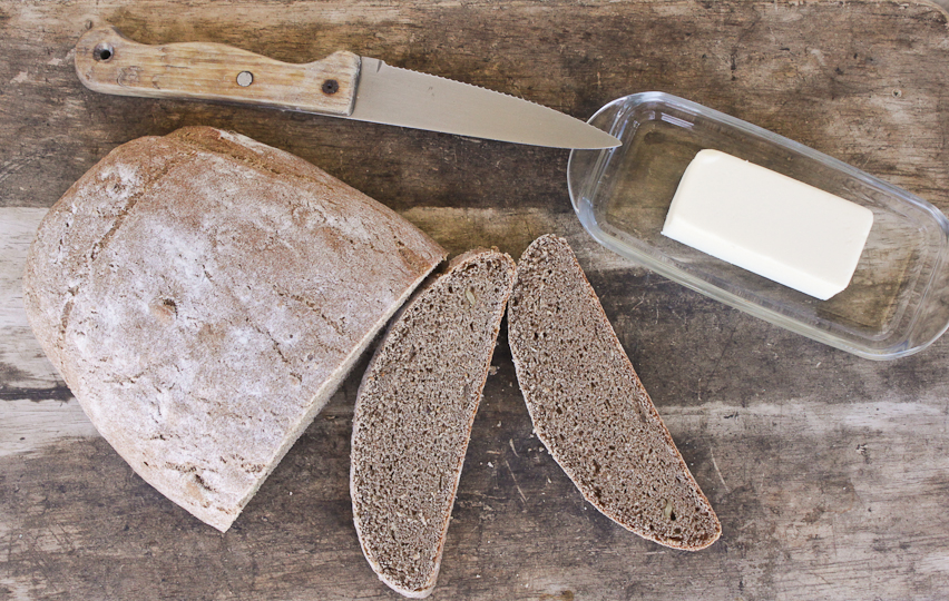 Rustic Whole Wheat and Buckwheat Bread