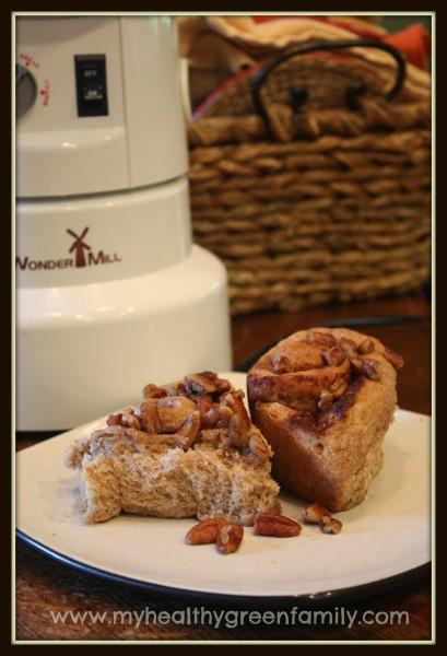 Cinnamon buns with grain mill
