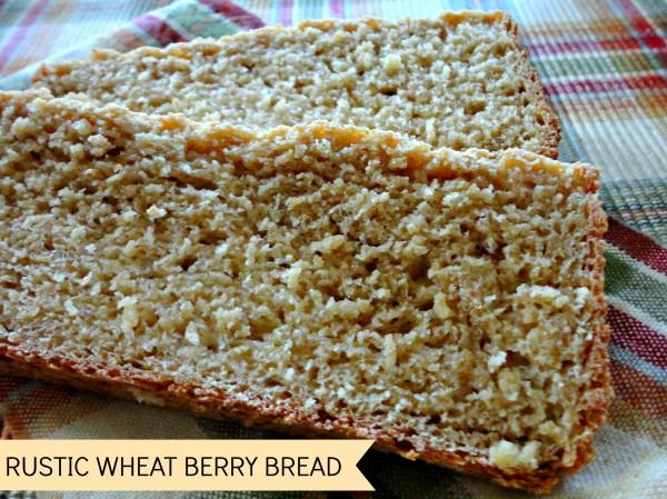 Rustic Wheat Berry Bread