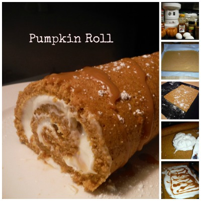 Pumpkin Roll With Cream Cheese Caramel Swirl Filling ...