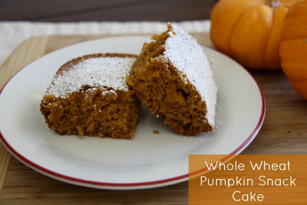 Whole Wheat Pumpkin Snack Cake