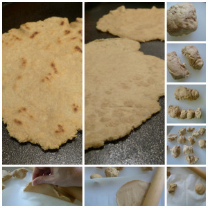 shaping sourdough tortillas collage