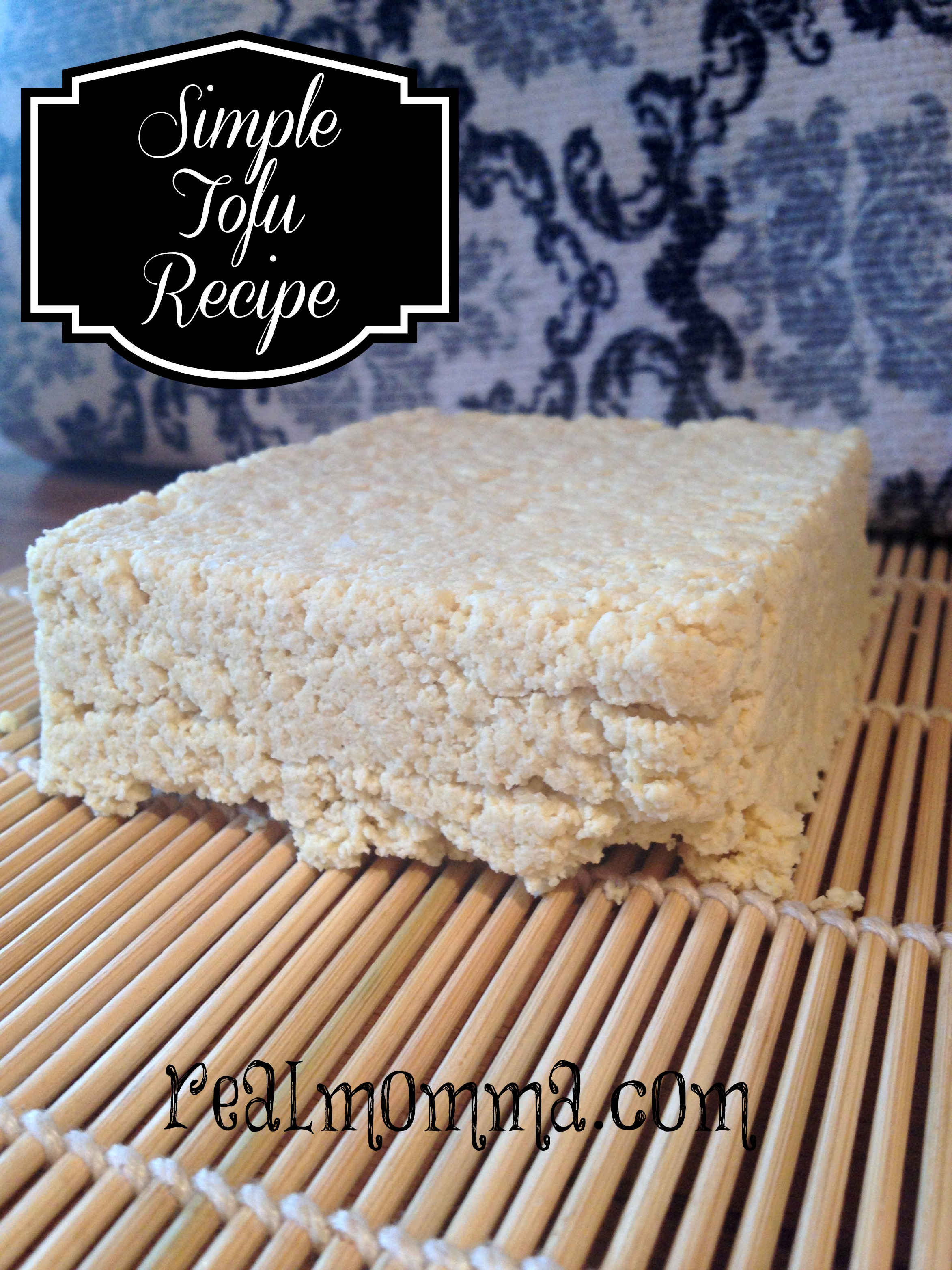 simple tofu recipe with soy flour