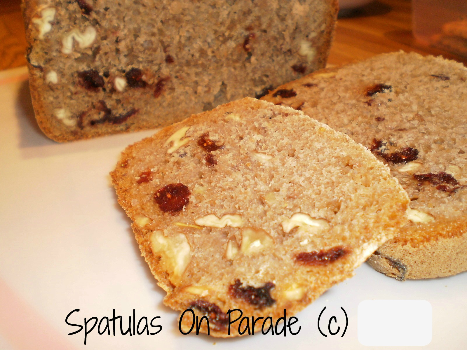 Cranberry Pecan Orange Honey Bread