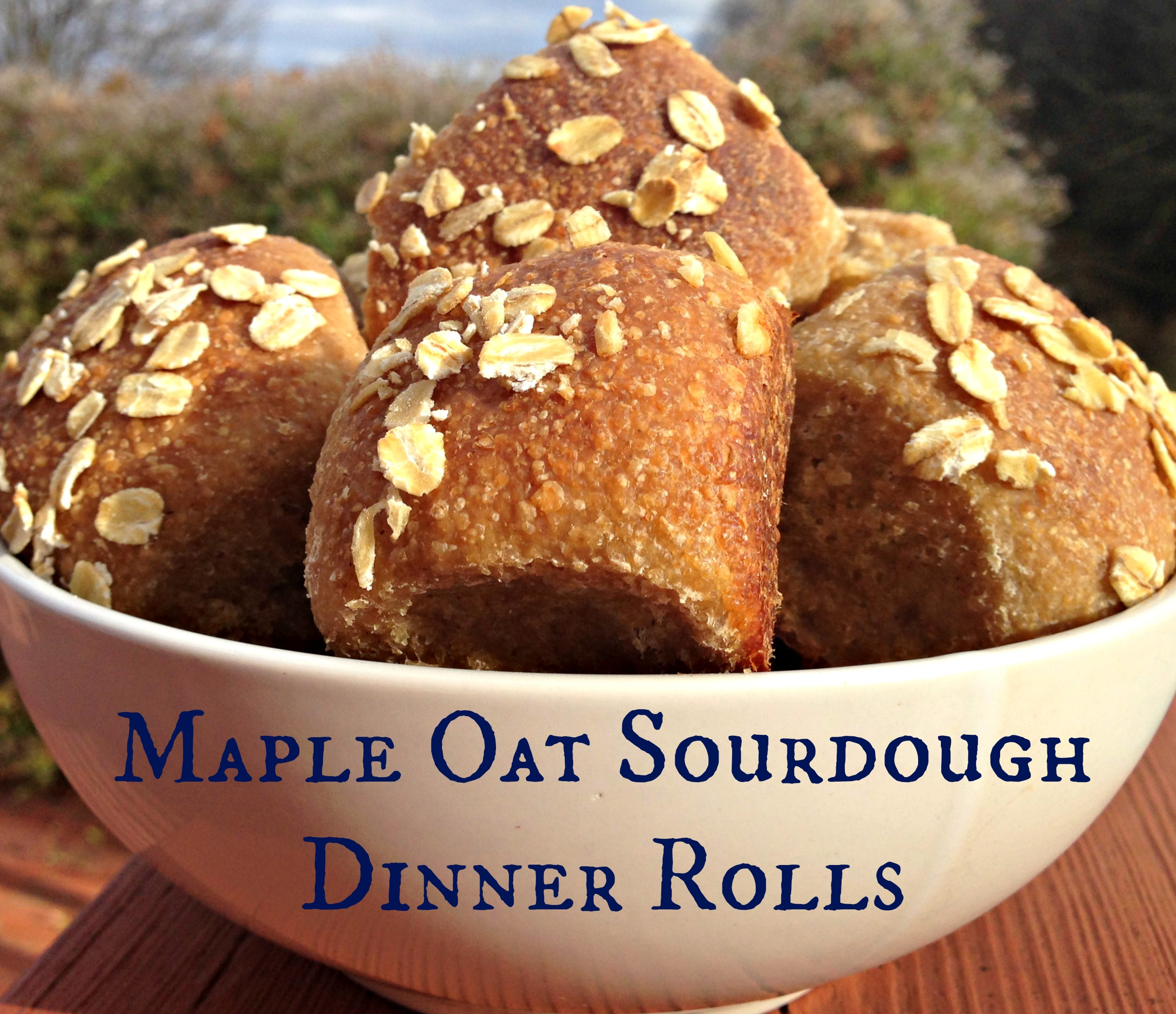 Maple Oat Sourdough Dinner Rolls on the Grain Mill Wagon, by Kristen @ Smithspirations