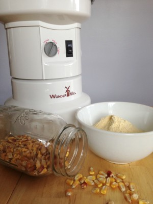 Wondermill with corn and cornmeal