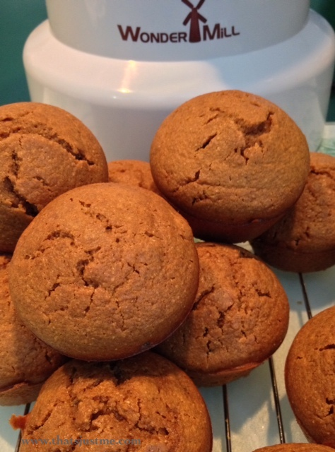 Spicy Barley Ginger Muffins