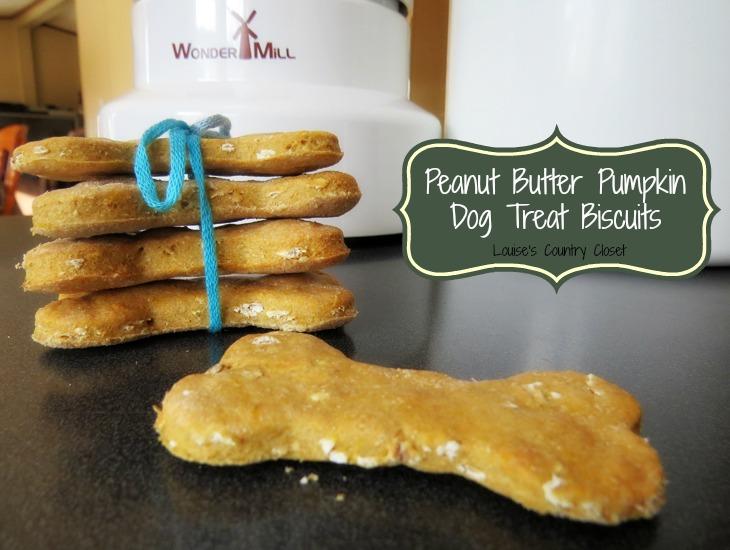 Peanut Butter Pumpkin Dog Biscuits