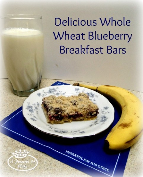 As part of a healthy and delicious breakfast, try these whole wheat blueberry almond bars. These things are to die for!!!