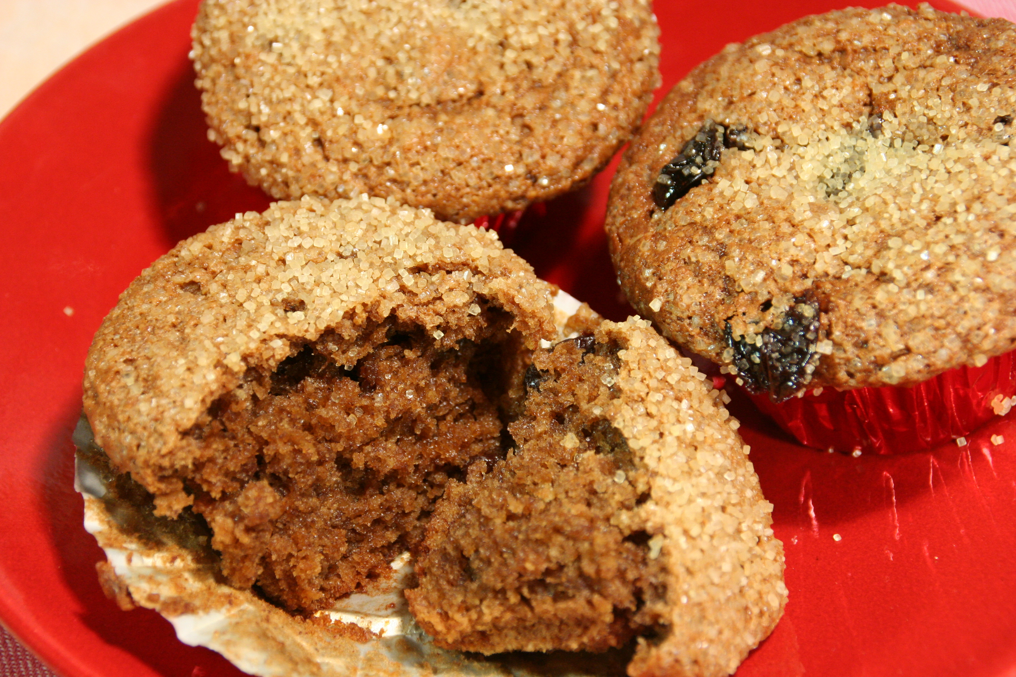 Peanut Butter and Banana Muffins with Cherries and Fresh Oat Flour