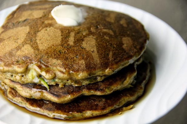 Whole Wheat Zucchini Bread Pancakes