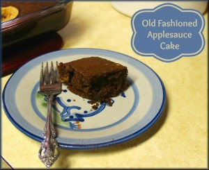 Old Fashioned Applesauce Cake