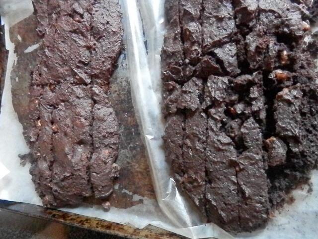 Double Chocolate Sourdough Biscotti