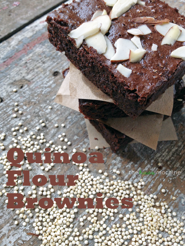 Quinoa Flour Brownies