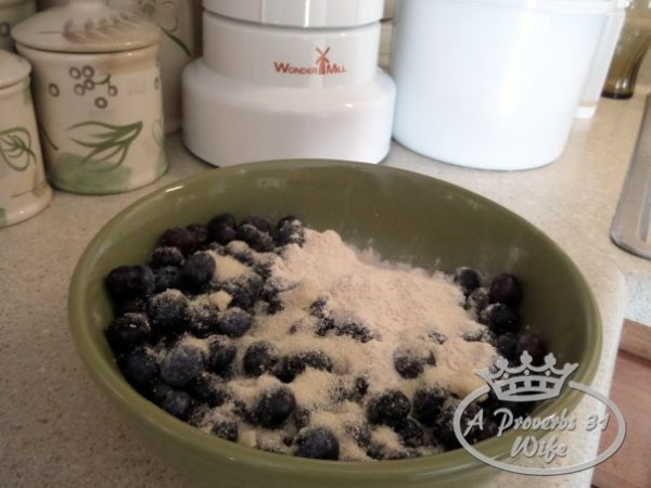 Blueberries are sweetened just a bit, making the fruit filling perfect!