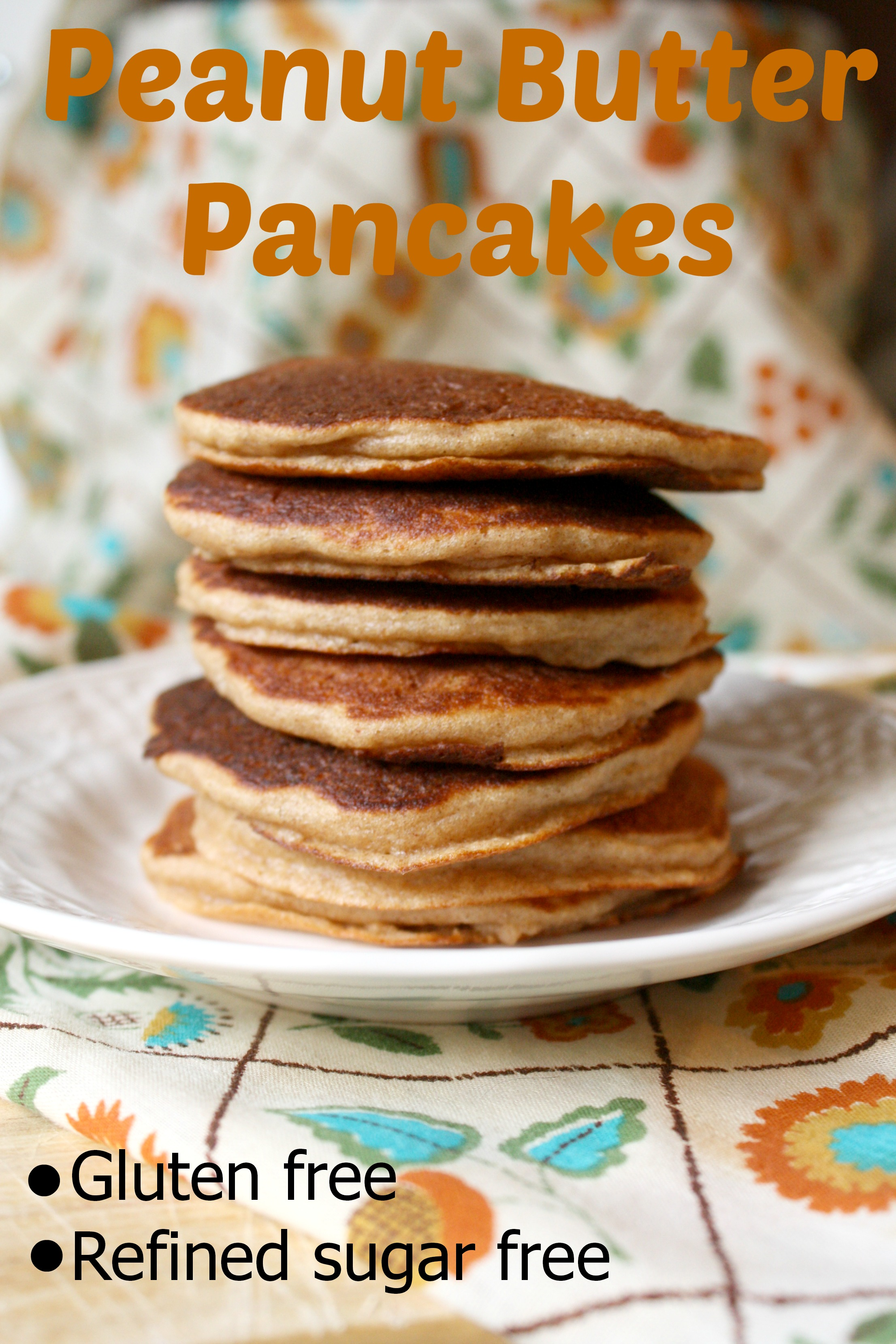 Peanut Butter Pancakes {gluten free}