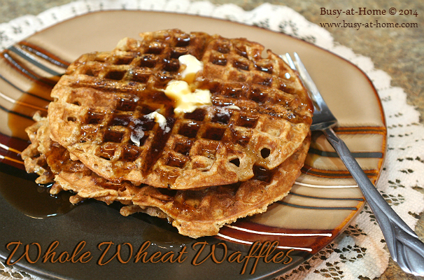 Crispy, Delicious Whole Wheat Waffles