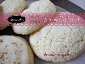 Hannah's GF Rice Flour Sugar Cookies