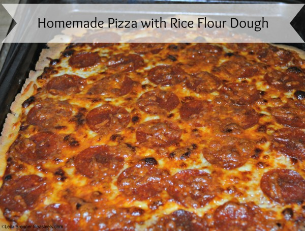 Homemade Pizza with Rice Flour Dough