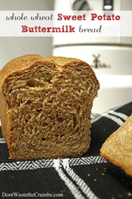 Whole Wheat Sweet Potato Buttermilk Bread