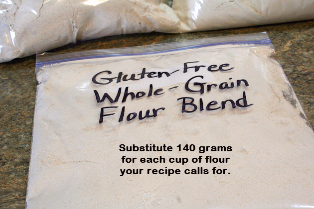 Homemade Gluten-Free Whole Grain Flour Blend (Brown Rice, Oat and Amaranth)