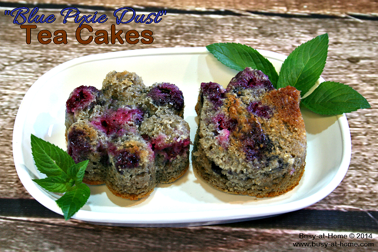 Gluten-Free Blue Corn Tea Cakes (Muffins) with Blueberries