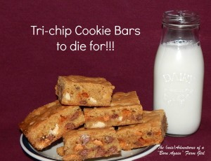 Tri-chip Cookie Bar