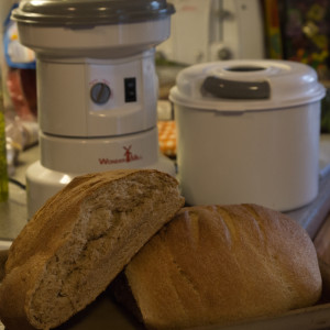 Easy whole wheat bread made using Kitchenaid mixer