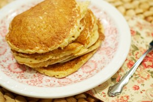 "Fluffy Whole Wheat ""Buttermilk"" Pancakes"