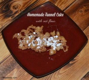 Homemade Funnel Cake (with oat flour)