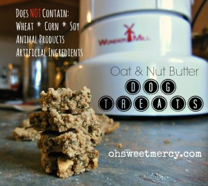 Oat and Nut Butter Dog Treats