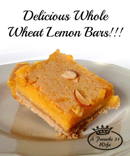 Whole wheat lemon bars, healthy and delicious!