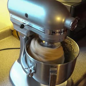 Use dough hook to kneed dough