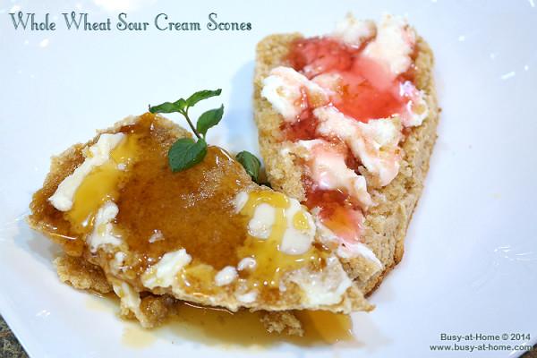 Sour Cream Whole Wheat Scones