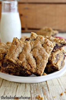 WW Peanut Butter-Oatmeal Chocolate Chip Bars