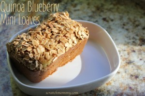 Mini Quinoa Blueberry Bread