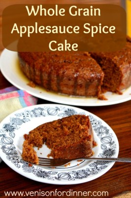 Whole Wheat Apple Sauce Spice Cake