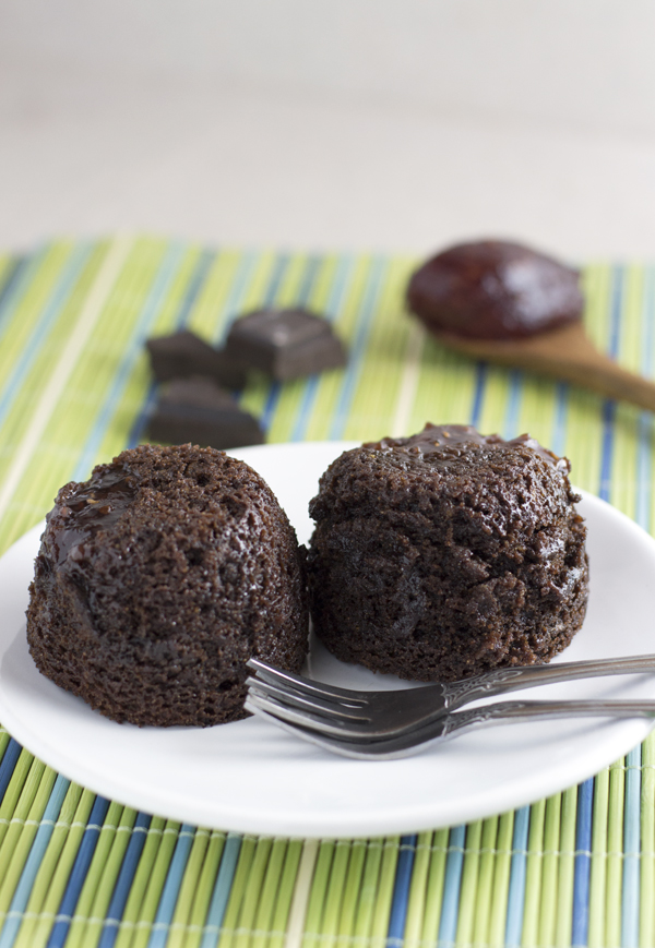 Allergy Free Rasperry Filled Chocolate Cakes For Two