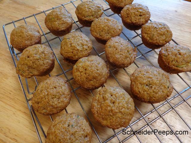 SchneiderPeeps Zucchini Muffins